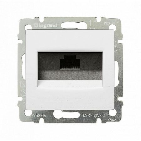 Розетка 1xRJ45 Cat.5 Legrand VALENA, белый