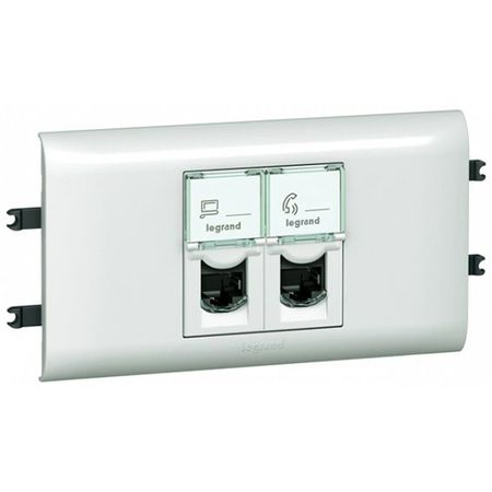 Розетка 2xRJ45 Cat.6 Legrand MOSAIC, белый